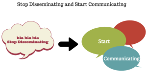 Stop Disseminating and start communicating