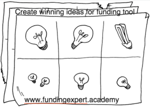 Create winning ideas for funding tool